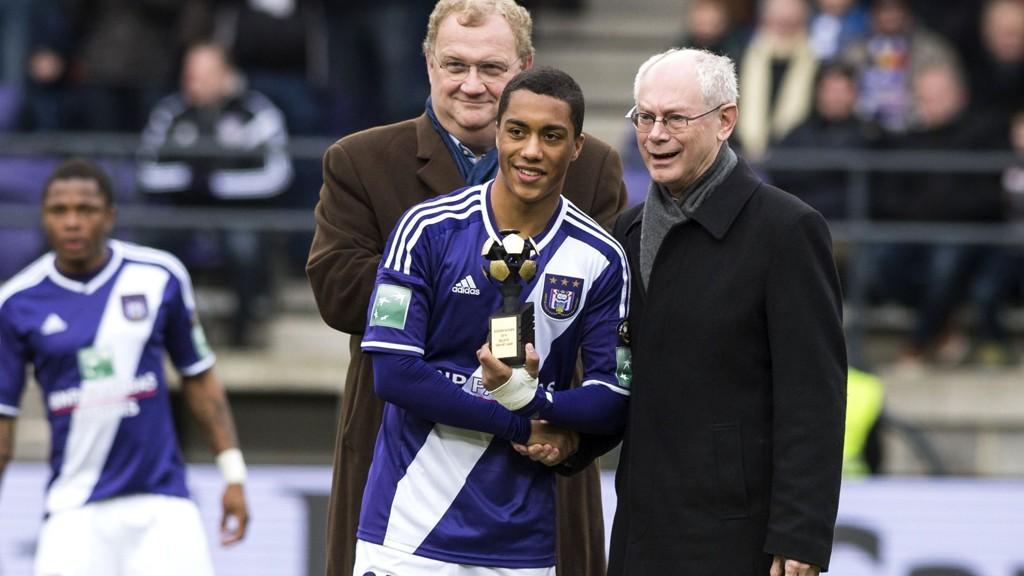 Stortalentet Youri Tielemans er en av Anderlecht-stjernene som glimrer med sitt fravær i kveldens cupkamp mot Zulte.