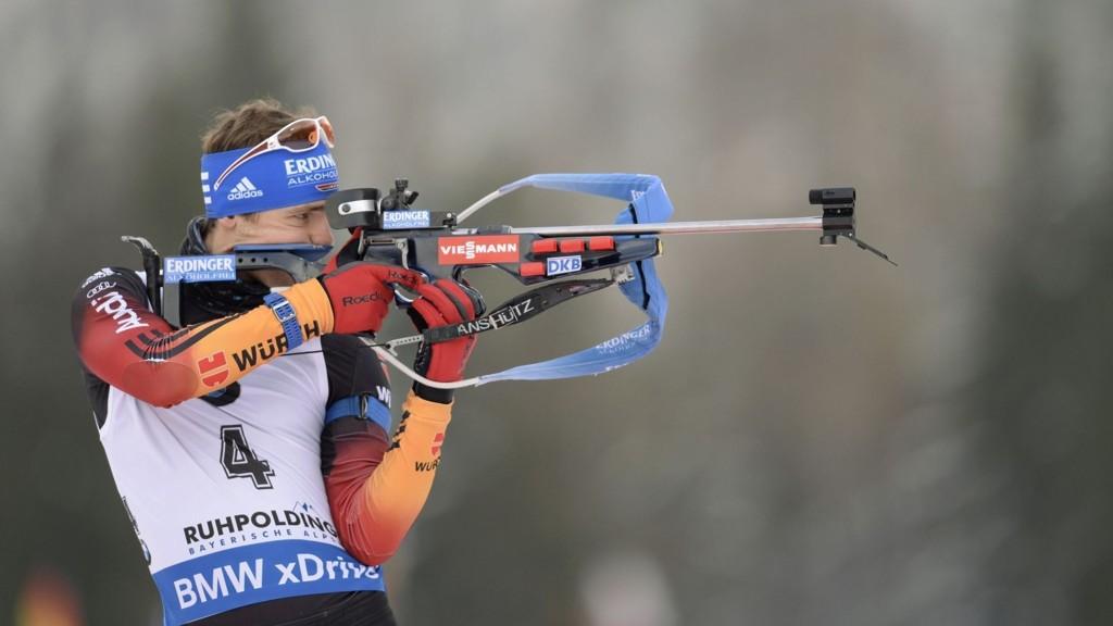 Tyskeren Simon Schempp vant fellesstarten i Ruhpolding sist søndag.