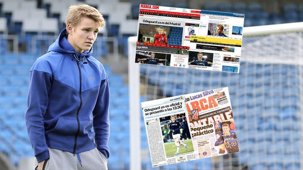 Martin Ødegaards overgang til Real Madrid har fått stor oppmerksomhet i Europa.