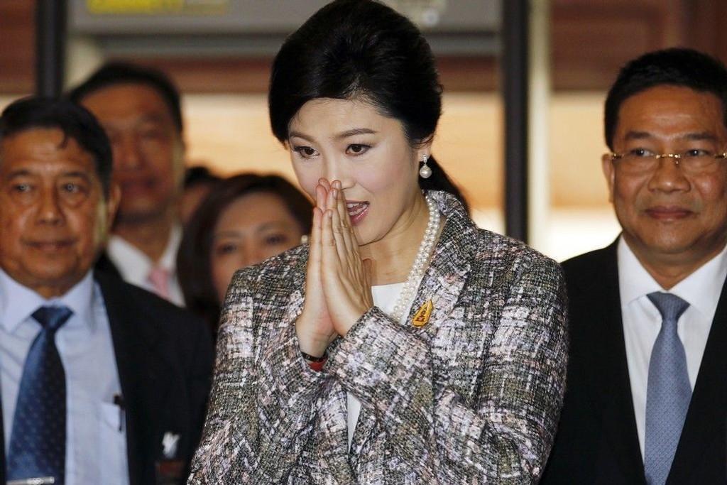 Thailands avsatte statsminister Yingluck Shinawatra i nasjonalforsamlingen i Bangkok torsdag.