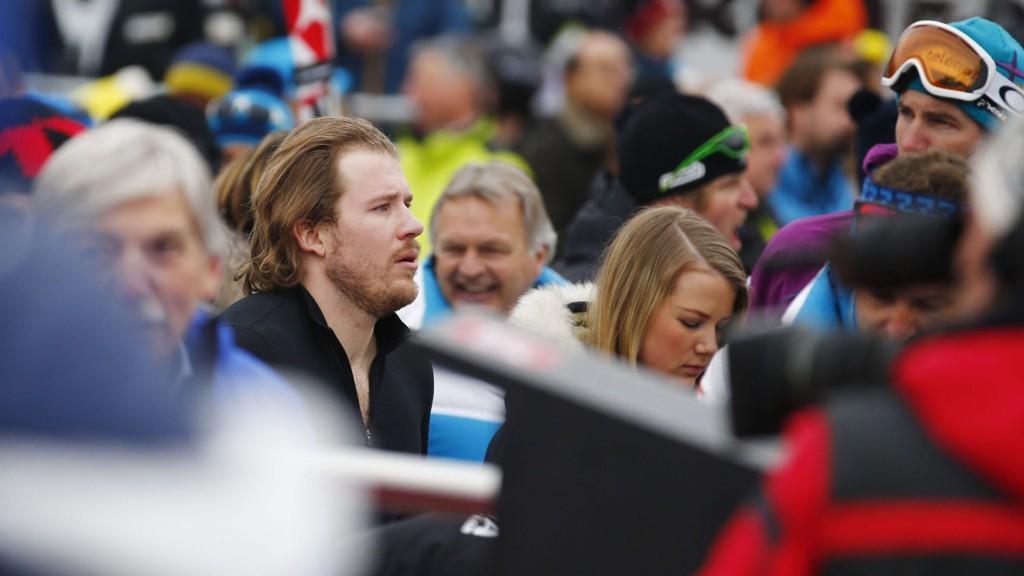 NEDTUR: Kjetil Jansrud i målområdet etter Super-G rennet i Kitzbühel.