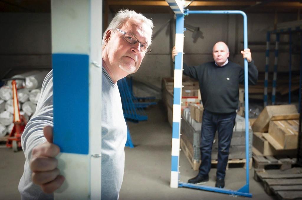 STOR PÅGANG: Daglig leder Atle Fjeld (t.h.) og prosjektleder Øyvind Olsen i Killingmo & Tønsberg.