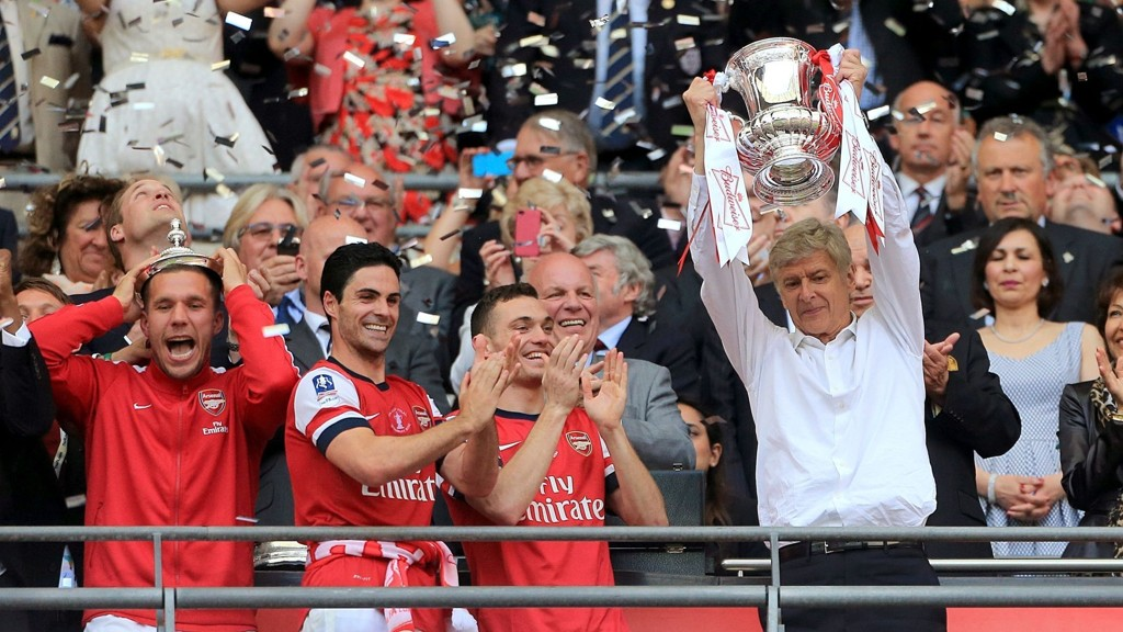Arsenal vant FA-cupfinalen mot Hull 3-2 forrige sesong.
