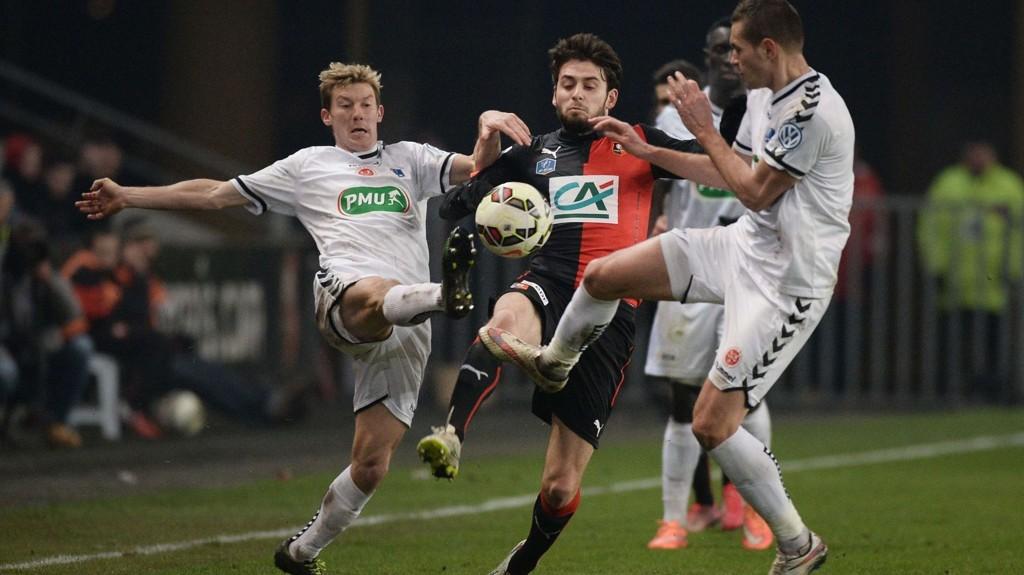 Reims ble slått ut av FA-cupen i torsdagens bortekamp mot Rennes.