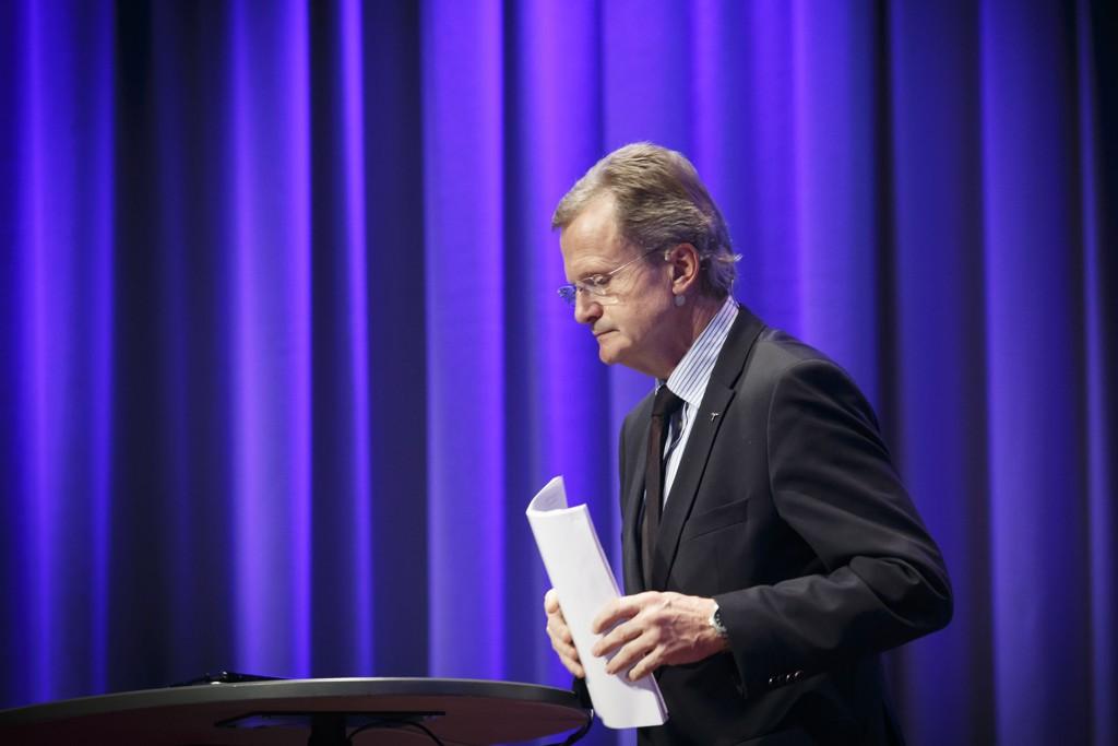 Nasjonal kommunikasjonsmyndighet vurderer reaksjon mot Telenor etter tabben som førte til at mobilnettet lå nede i flere timer 30. oktober i fjor. På bildet konsernsjef i Telenor Jon Fredrik Baksaas.