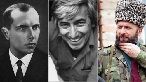 Fra venstre til høyre: Stepan Bandera, Georgi Markov og Zelimkhan Yandarbiyev ble trolig alle drept på ordre fra den russiske eller sovjetiske stat. I sistnevntes tilfelle ble to russiske agenter dømt.
