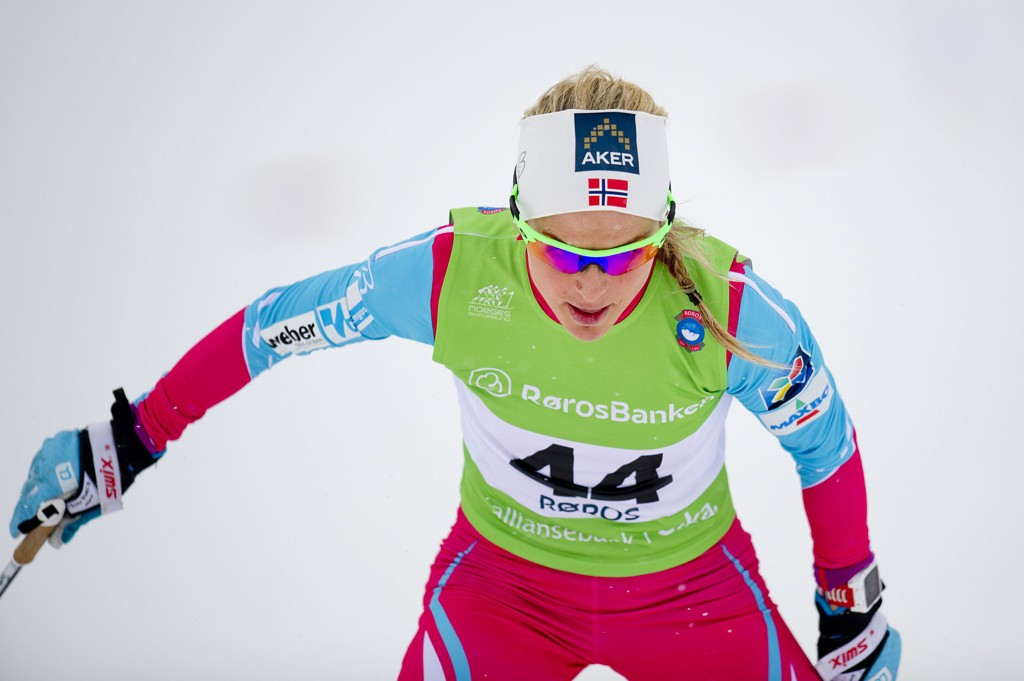 SUVEREN: Therese Johaug knuste alle i NM.