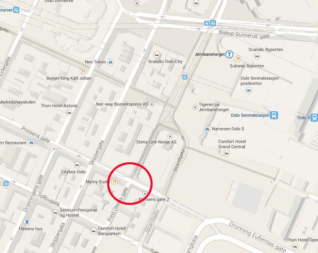 Økse-mannen i 30-årene ble pågrepet av politiet like før klokken 10 i Oslo sentrum.