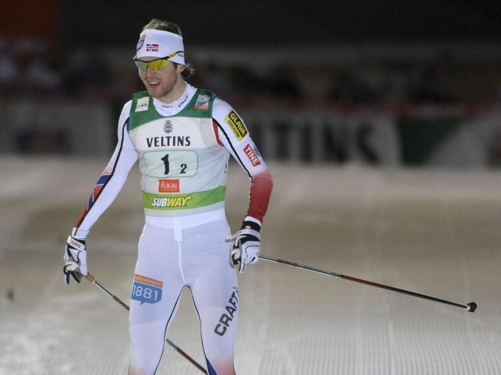 FØRSTE GANG: Jørgen Graabak har nå også vunnet et indivduelt renn i verdenscupen. Her fra Finland før jul.