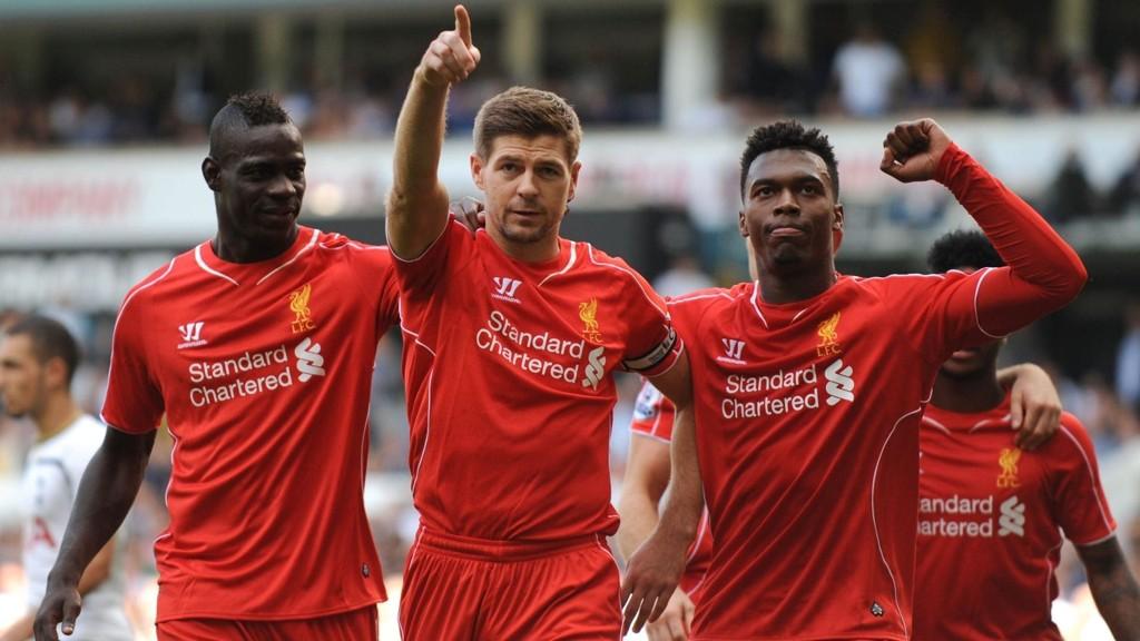 Liverpool har scoret 15 mål på de siste 4 kampene mot Tottenham.