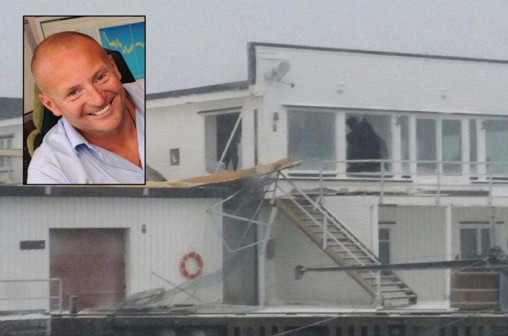 Fritidshuset til Ole Johan Vikan Pettersen fikk brutal behandling av ekstremuværet.
