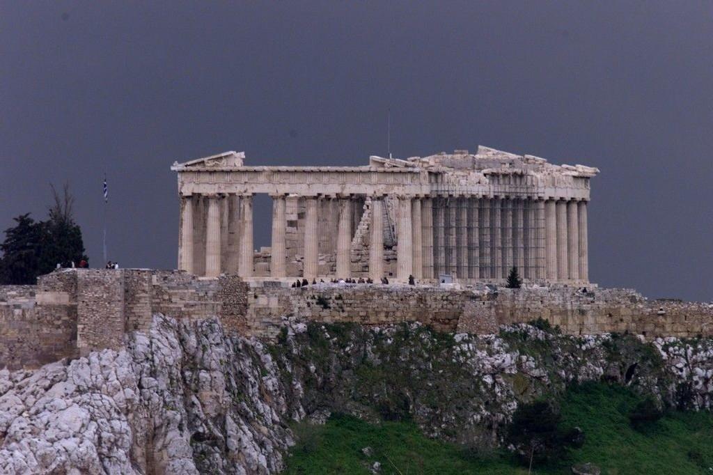 Eurosonens finansministre maktet ikke å bli enige med Hellas om noen plan for Atens gjeld. Samtalene gjenopptas først mandag. På bildet: Akropolis, Aten.