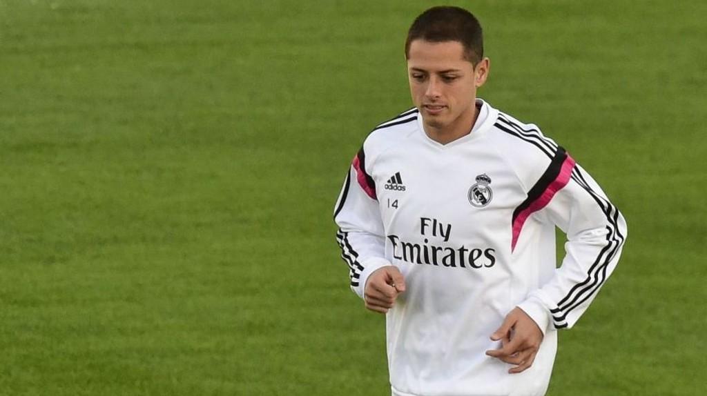 LITE SPILLETID: Det blir ikke mye spilletid på Javier Hernandez i Real Madrid. Daily Star hevder at West Ham er interessert i å hente ham tilbake til Premier League.