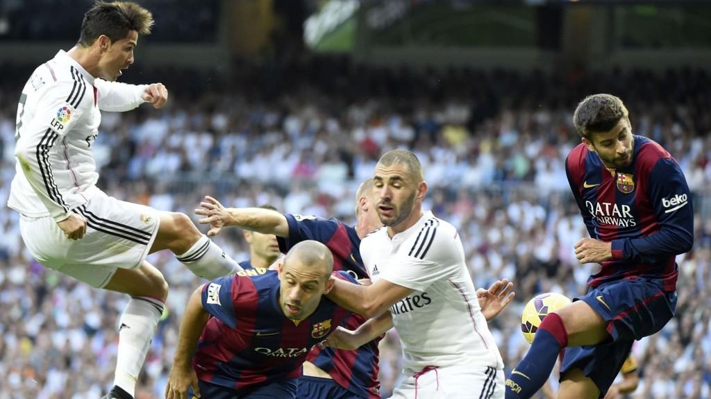 URETTFERDIG: Barcelona og Real Madrid forsyner seg grovt av TV-rettighetene i Spania. FOTO: NTB scanpix