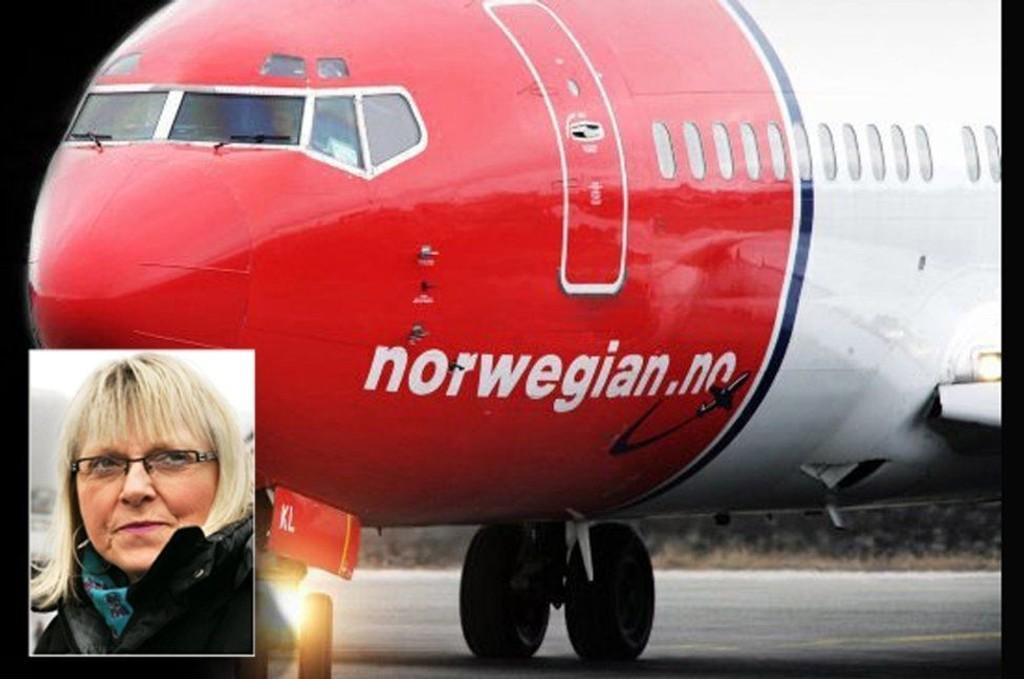 Irene Segelvik var en av passasjerene som måtte tilbringe syv timer i Norwegian-flyet natt til torsdag.