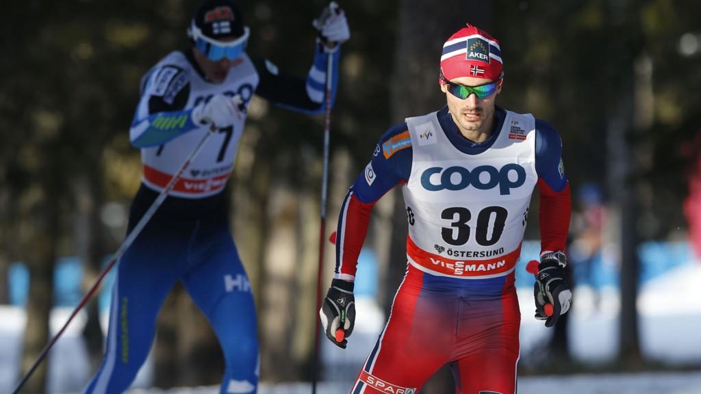 I FORM: Hans Christer Holund gikk inn til en fjerdeplass i verdenscupen under søndagens 15 km friteknikk i Östersund.