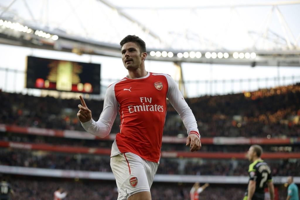 DOBBEL: To scoringer av Olivier Giroud sendte Arsenal videre til kvartfinalen i FA-cupen.