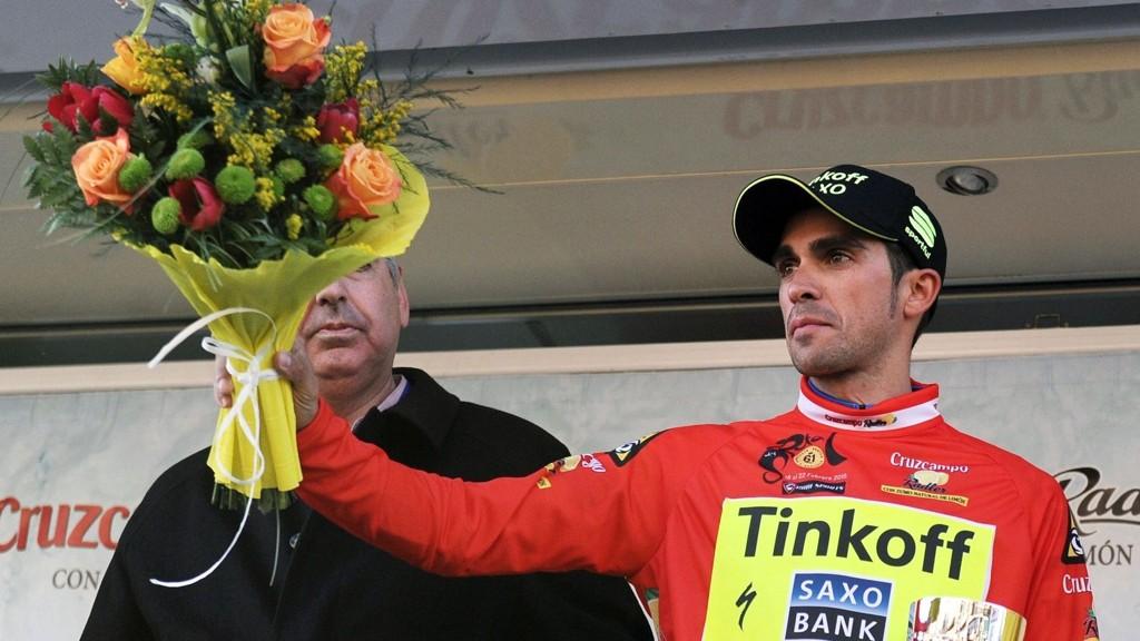 TOK FØRSTE STIKK: Alberto Contador.