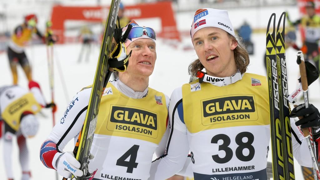 VANT DUELLEN: Håvard Klemetsen fikk den siste plassen på det norske VM-laget til fredagens øvelse fremfor Mikko Kokslien (t.h.).