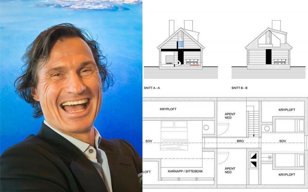 Skissene av Petter Stordalens nye hytte.