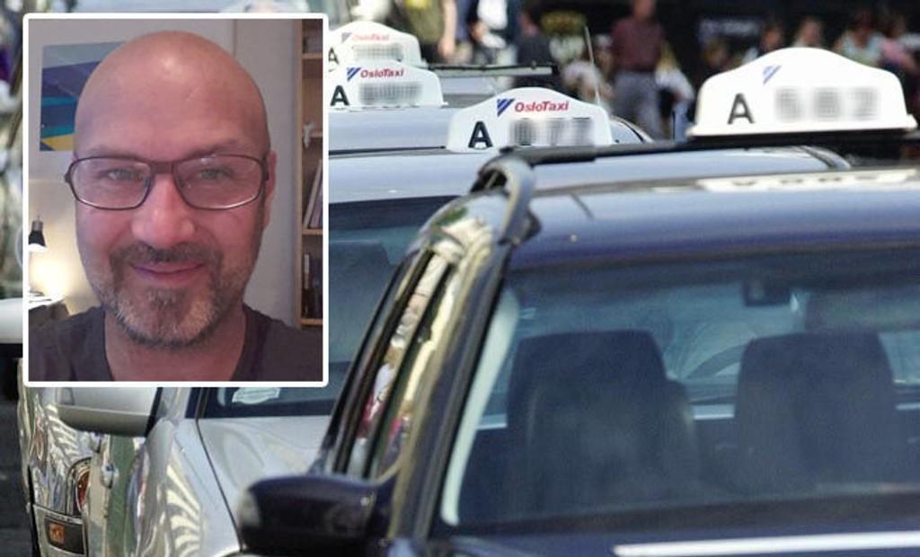 Taxisjåfør Roger Dørum Pettersen oppfordrer til lavere priser, slik at taxi kan stille på lik linje som kollektivtrafikken.