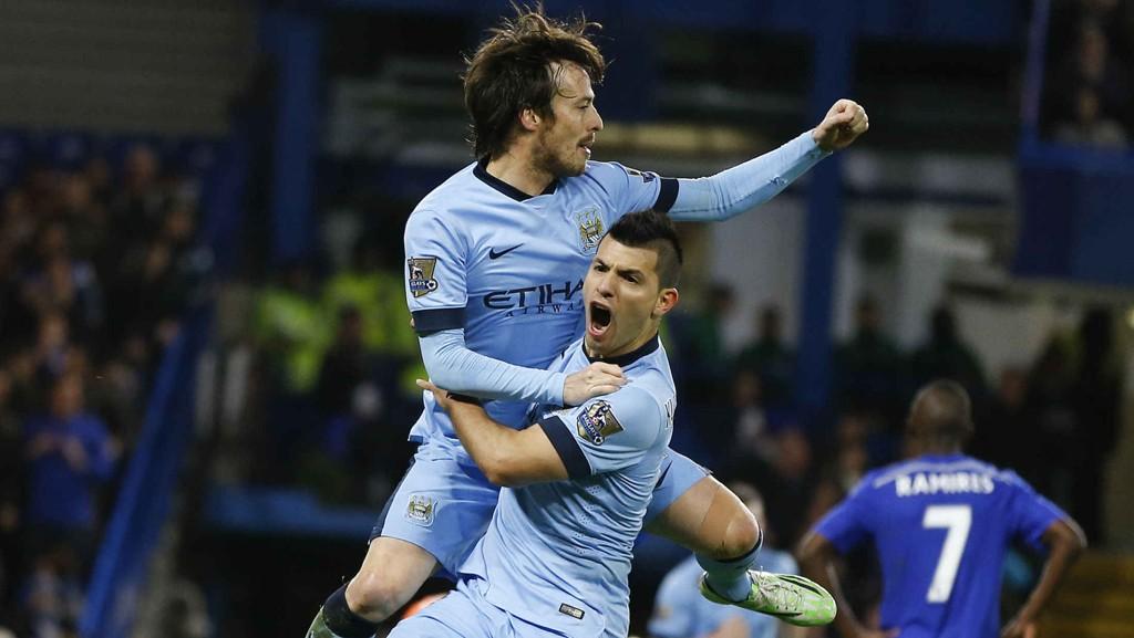 David Silva og Sergio Aguero var i praktslag i Manchester Citys 5-0-seier over Newcastle lørdag.