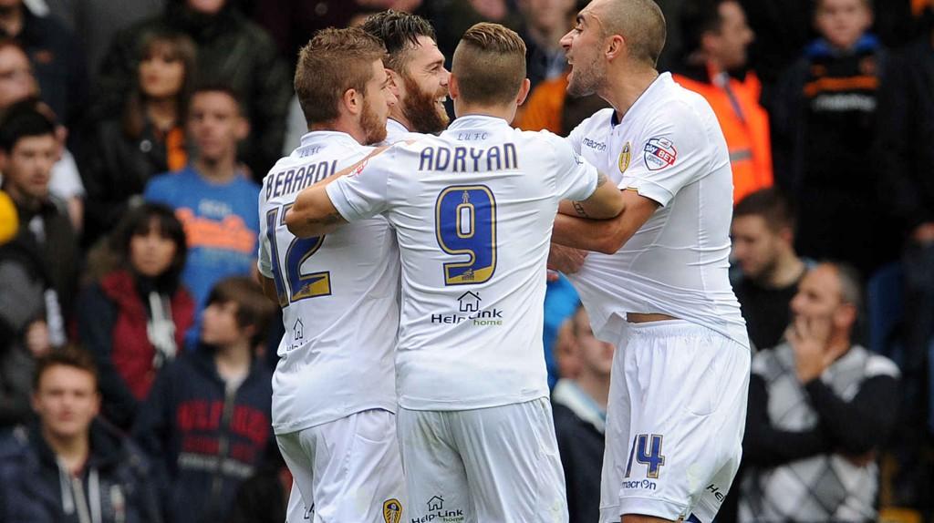 Det har vært mange gledesstunder som denne for Leeds-spillerne i februar.