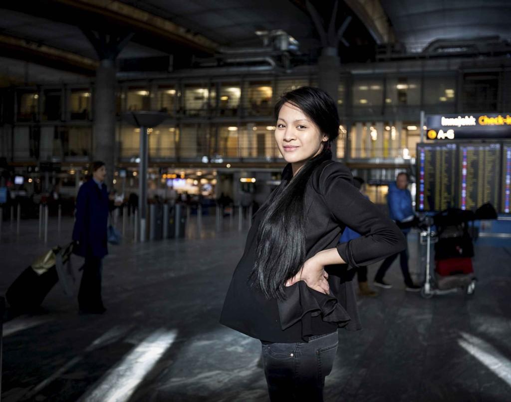 Raskt tilbake på jobb: Raquel Castillo venter barn i mars. Hun har ingen planer om å være borte fra jobb mer enn nødvendig. Etter to og en halv måned skal hun tilbake til arbeidsplassen.