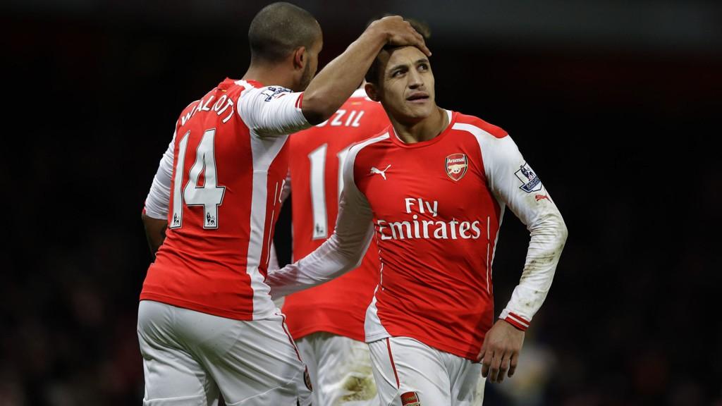 Alexis Sanchez og Theo Walcott skal brynes seg på et Monaco-forsvar som tidligere i vinter spilte 14 kamper på rad uten å slippe inn mål i ordinær tid.