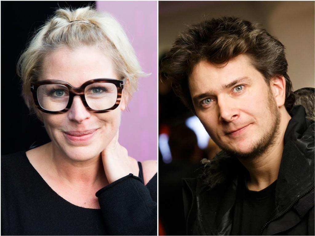 HAVNER I SAMME BÅT: «Berserk»-skipper Jarle Andøy fått med seg komiker Anne Kat. Hærland på tur.