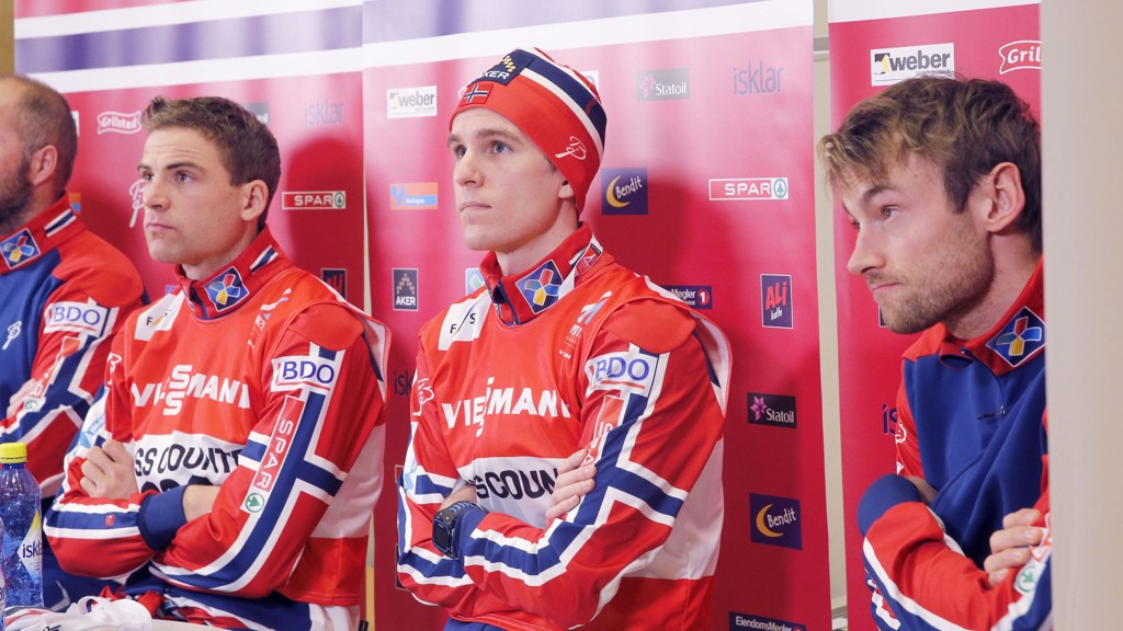 Niklas Dyrhaug, Didrik Tønseth og Petter Norhug skal gå stafetten sammen med Anders Gløersen (ikke på bildet).