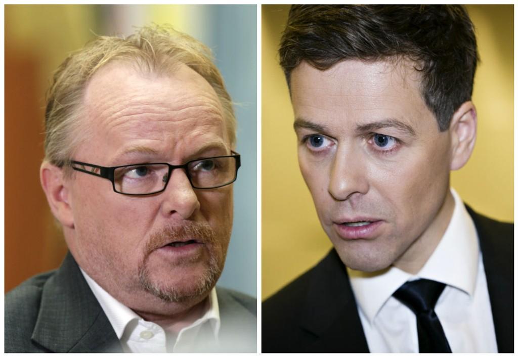 Per Sandberg (Frp) og Knut Arild Hareide (KrF).