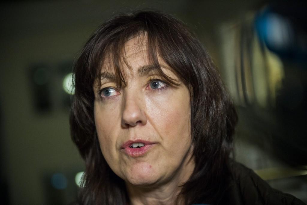 Kommunikasjonsdirektør i Norwegian Anne-Sissel Skånvik møter pressen i forbindelse med at det ble brudd i forhandlingen i Norwegian streiken natt til lørdag.