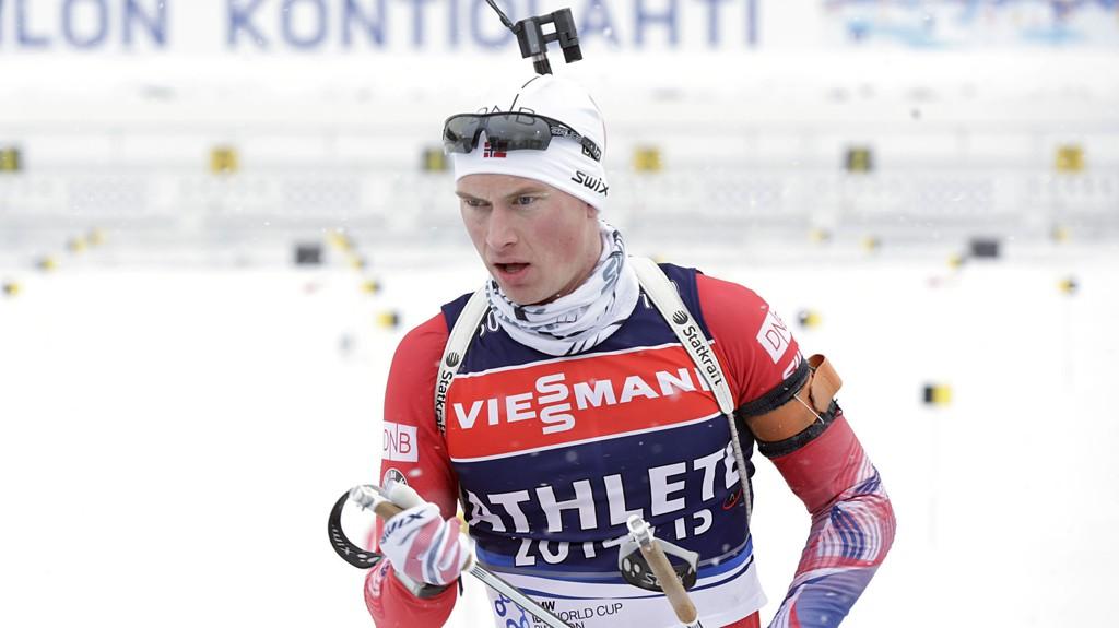 FÅR GÅ: Henrik L'Abée-Lund skal likevel gå skiskyttersprinten i VM. Han erstatter en syk Lars Helge Birkeland.