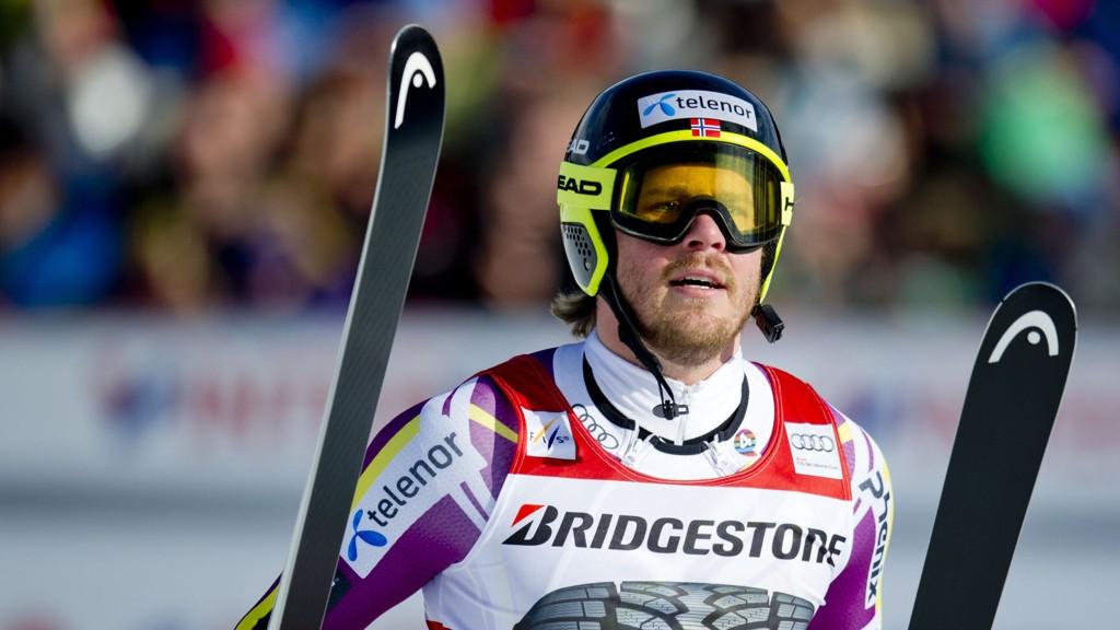 SKUFFET: En skuffet Kjetil Jansrud måtte innse at det ikke ble en topplassering i Kvitfjell lørdag.