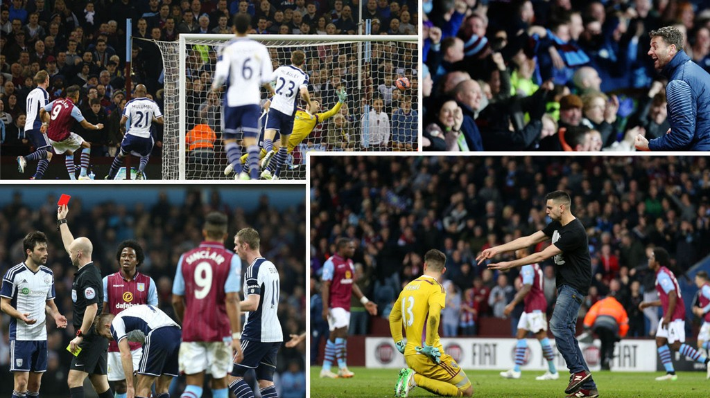DRAMA: Kampen mellom Aston Villa og West Bromwich hadde alt.
