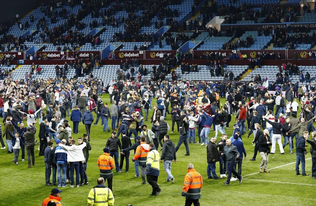 EKSTREME SCENER: Det var ekstreme gledescener da Aston Villa gikk videre i FA-cupen.