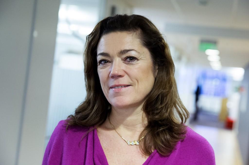 Administrerende direktør Kristin Skogen Lund i NHO på sitt kontor i NHOs hovedkvarter i Oslo tirsdag.