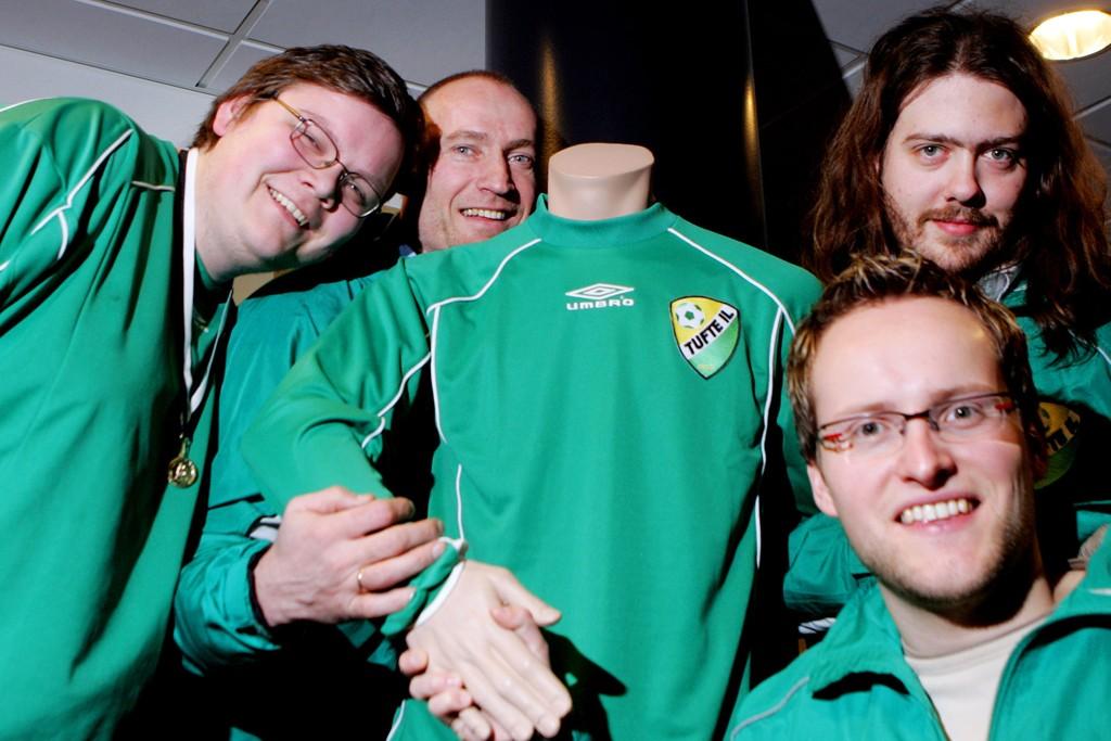 TV-SUKSESS: Her er «Tufte-Karlsen» med trener Erik Thorstvedt, Thor Joachim Haga og Martin Bull Gudmundsen - fra 2006.