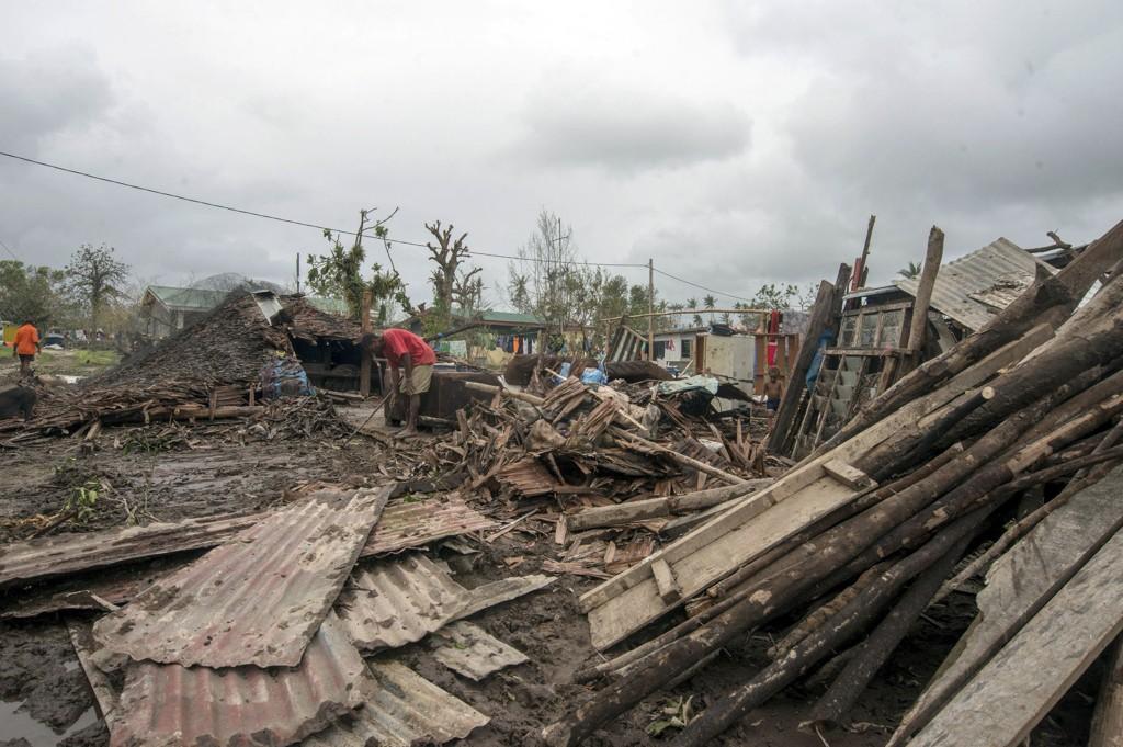 TRIST SYN: Store ødeleggelser i hovedstaden Port Vila.