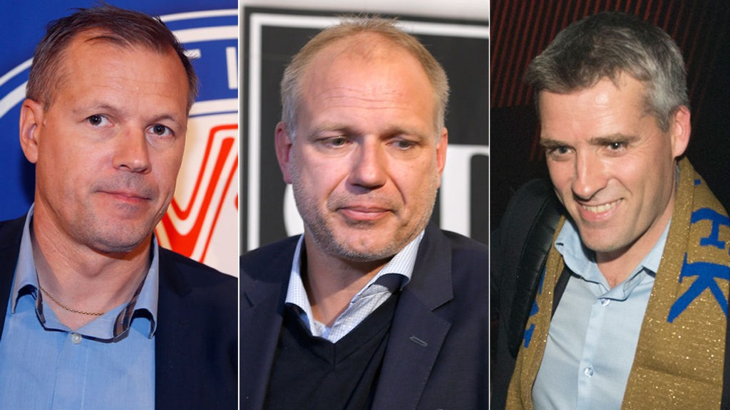 RIVALER: Vålerengas Kjetil Rekdal (t.v), Odds Dag-Eilev Fagermo og Moldes Tor Ole Skullerud er blant dem som skal kjempe om edelt metall i Tippeligaen.