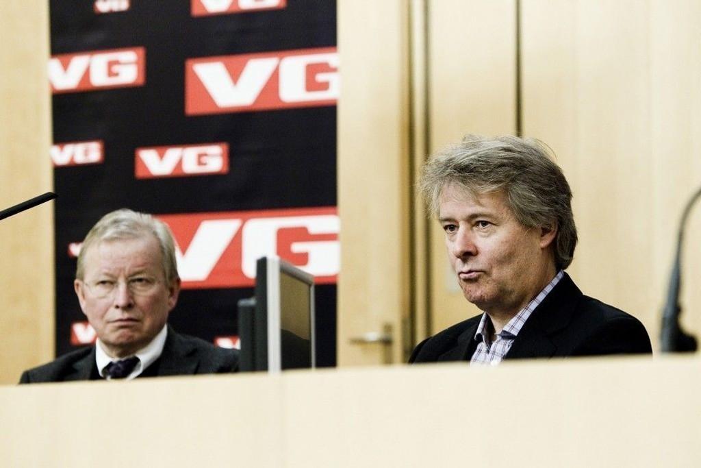 Ansvarlig redaktør i VG Torry Pedersen (til høyre).
