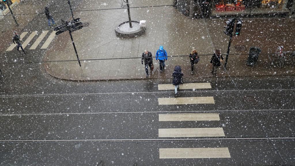 Slik så det ut i Oslo onsdag morgen.