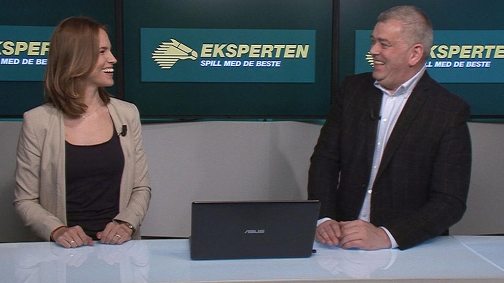 Det var god stemning i TV-studioet da travekspert Kurt Leirvåg lærte Nettavisen-kollega Anna-Marie Augustin hvordan man spiller på trav.
