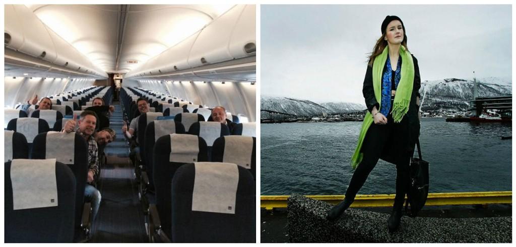 LANG KJØRETUR: Hanna Worum fikk beskjed om at alle fly nordover var fulle, og valgte derfor å kjøre med fremmede fra Oslo til Tromsø. Hun ble forbannet da hun så at SAS hadde sendt nesten tomme fly på samme strekning.