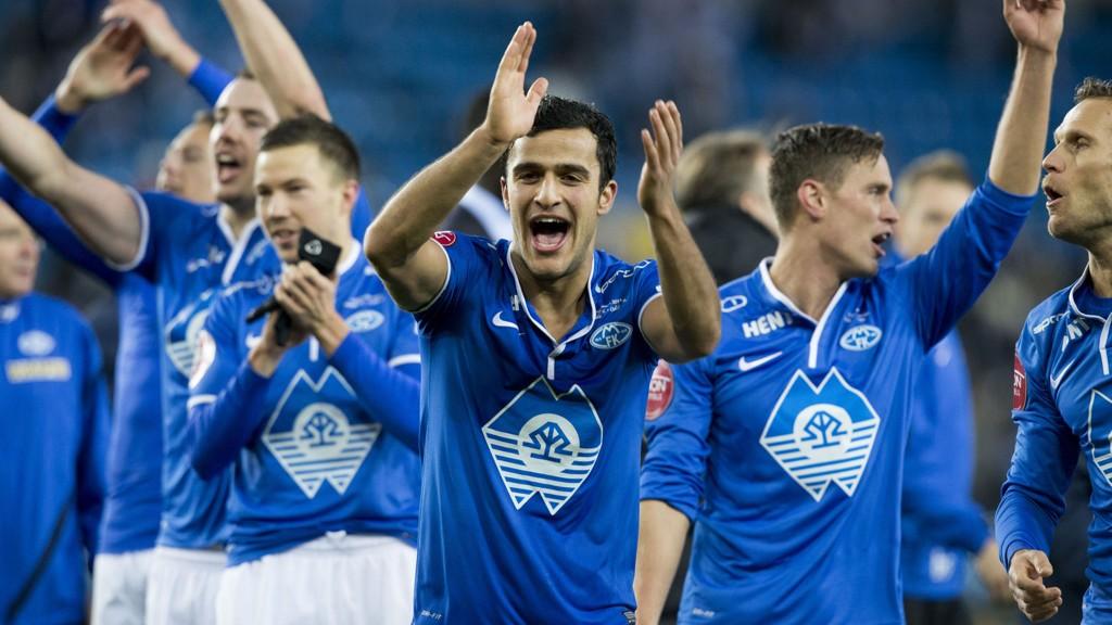 NY MOLDE-JUBEL?: Molde møter Odd i sin første Tippeliga-kamp denne sesongen. Her fra Moldes cupseier i fjor.