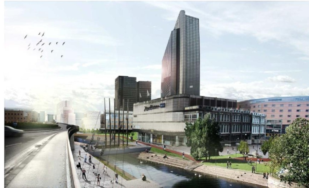Flere arkitekter støtter forslaget om å bygge Oslo Plaza høyere. Slik ser Wenaasgruppen for seg et nytt og utvidet hotellkompleks.