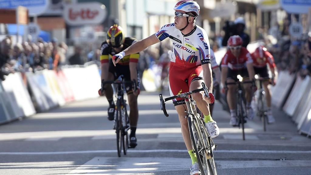 VANT: Alexander Kristoff tok sin andre seier på like mange dager da han suste inn til seier på den andre etappen av De Panne-Koksijde.