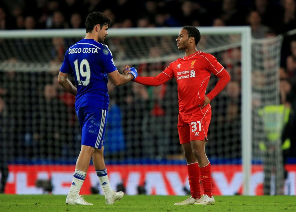 MULIG Å KJØPE? Chelseas manager mener alle spillere er til salgs bare prisen er den rette, også Liverpool-stjernen Raheem Sterling (til høyre). Her sammen med Diego Costa da lagene møttes i ligacupen i vinter.