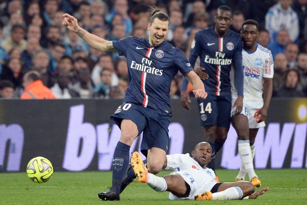 VANT - TIL SLUTT: Zlatan Ibrahimovic og PSG fikk med seg tre poeng mot Marseille søndag kveld.